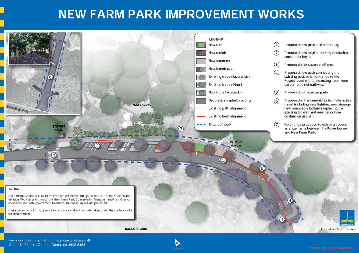 New Farm Park Pedestrian Improvements