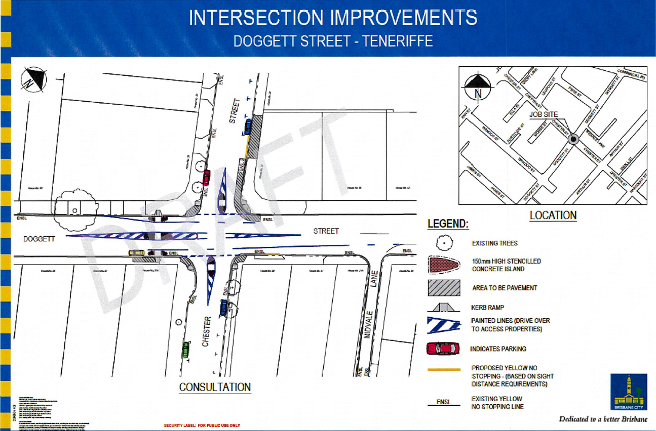 Doggett and Chester Pedestrian Safety Improvements June 2021
