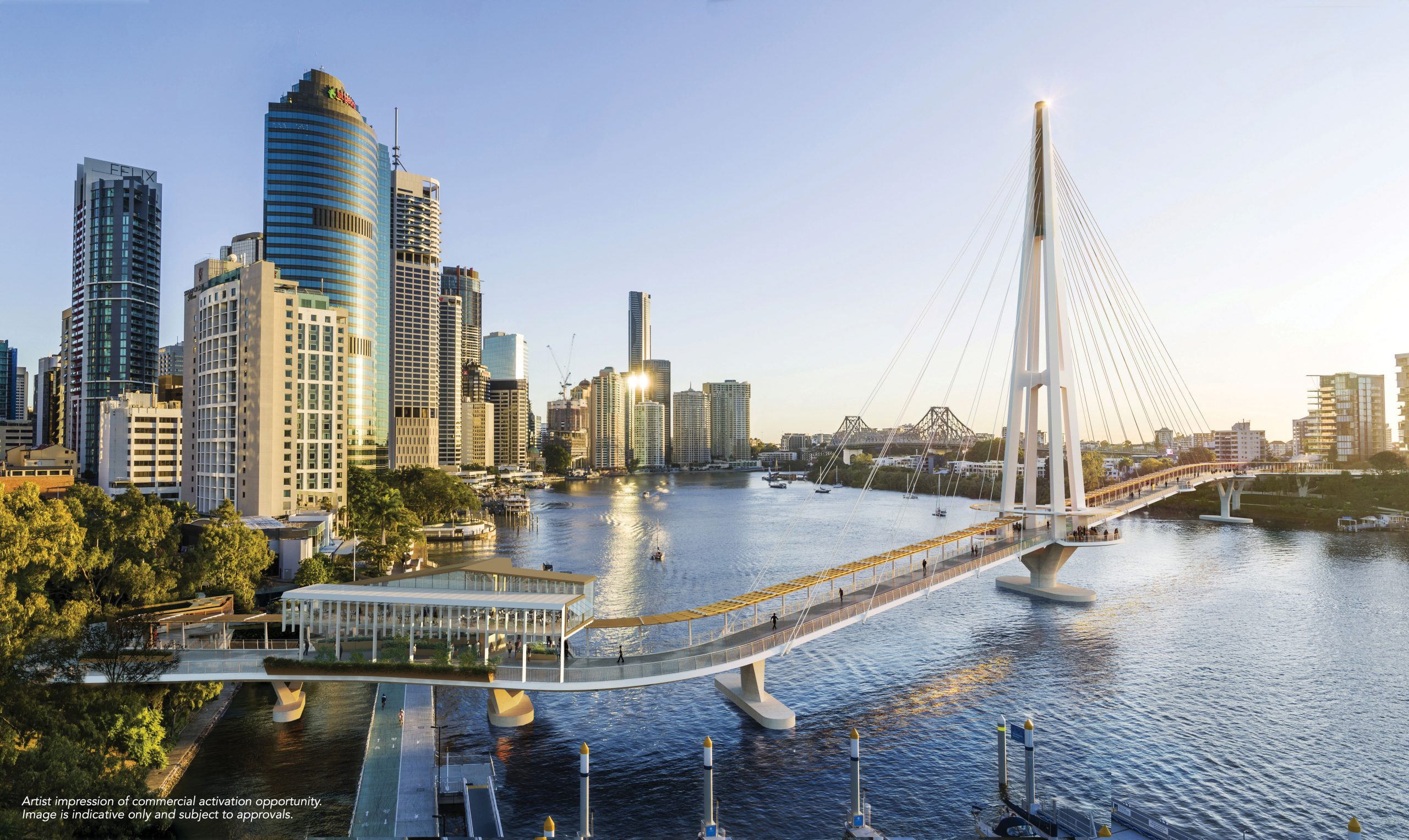 City - Kangaroo Point Green Bridge